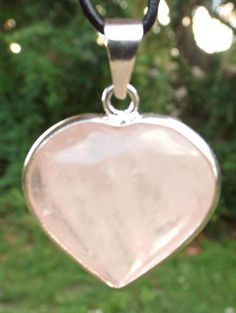 ROSE QUARTZ HEART Pendant Sterling Silver by thecelestialmirror