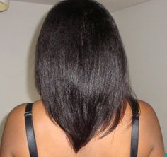 relaxed hair | In this post, I'll share some tips on taking care of relaxed hair and ...