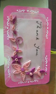 Faiths quilling birthday invitation cards my quillings thank you quilling card stopboris Choice Image