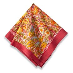 Unify your dining decor with this truly elegant set of Jardine napkins that reflect the artistic impressions started in the South of France. Featuring a vibrant style, these napkins will grab the attention of anyone who eats at your table.