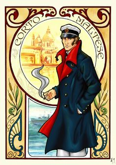 Corto Maltese by Hugo Pratt, pined from Elisabete Marseglia
