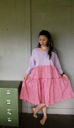 upcycled clothing Bohemian dress Mori girl by lillienoradrygoods, $89.50