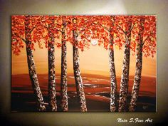 Original Landscape Painting Heavy Textured Palette by NataSgallery, $279.00