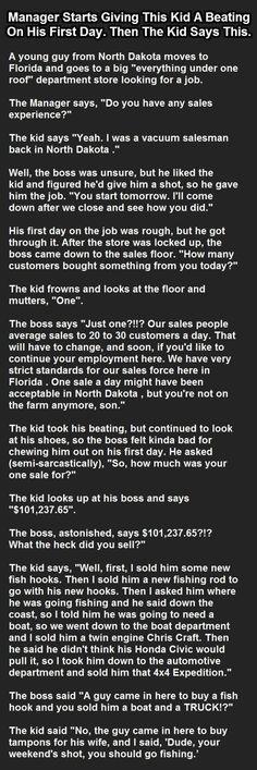 That's a good salesman!