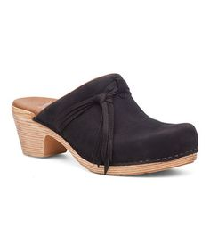 Another great find on #zulily! Black Miriam Suede Clog #zulilyfinds