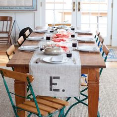 Burlap-table-runner-custom-monogram