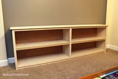 low bookcase plans