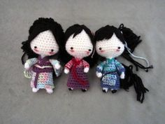 ArtTrade: Traditional clothing dolls by *Yuki87 on deviantART