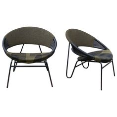 Geneviève Dangles; Easy Chairs, 1950s.