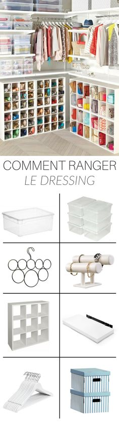Une idée de rangement et d'organisation pour dressing