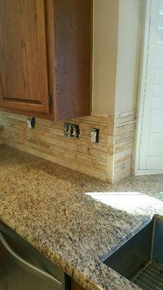 Stone counter top and backsplash