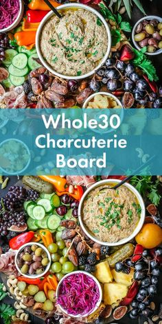 Whole30 Charcuterie Board with Lebanese-Inspired Baba Ganoush
