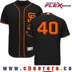 85874febb8ec5 Men's San Francisco Giants #40 Madison Bumgarner Black Alternate Stitched  MLB 2017 Majestic Flex Base