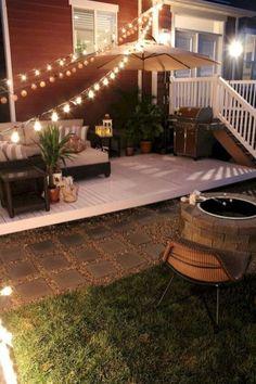 How to Build a Simple DIY Deck on a Budget Patio Garden, small Patio Garden, Patio Garden ideas, Pat Patio Bar, Back Patio, Diy Patio, Screened Patio, Diy Porch, Outdoor Spaces, Outdoor Living, Outdoor Decor, Rustic Outdoor