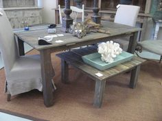 Dining Table reclaimed wood dining table www.oldpine.com