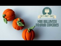Mini Halloween Pumpkin Cupcakes Quick and Easy Video Tutorial by Zoe's Fancy Cakes - CakesDecor