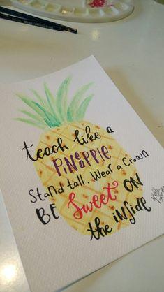 Pineapple for teacher #teacher #watercolourpineapple