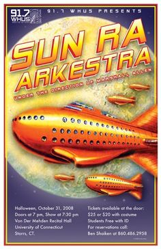 Sun Ra Arkestra At University Of Connecticut    Space Fishships on concert poster
