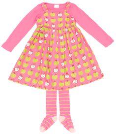 Zauberhaftes Kleid von #Next mit passendem Langarmshirt in Gr. 110 aus der #Apfelserie.