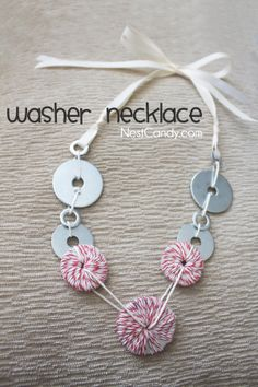 DIY Washer Necklace from Nest Candy
