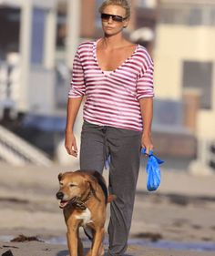 Tucker (Adopted by Charlize Theron)   20 Celebs And Their Adorable Adopted Pups
