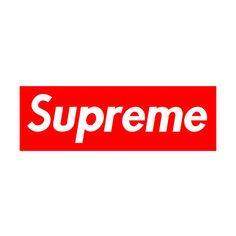 supreme logo | Tumblr ❤ liked on Polyvore