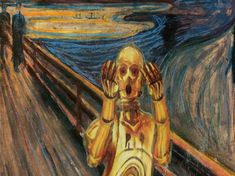 Star Wars take on Edvard Munch's The Scream by Dave Hamilton Andy Warhol, Star Wars, Le Cri Munch, Scream, Pop Culture Art, 12 Image, The Force Is Strong, Painting Gallery, Love Stars