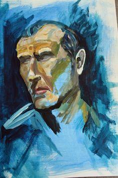 Hombre en azul José González 2015