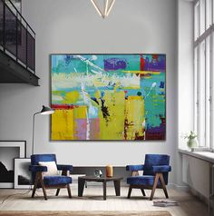 Handmade Extra Large Contemporary Painting, Huge Abstract Canvas Art, Original Artwork - By Leo, Celine Ziang Art