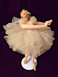 """Vtg Roldan Klumpe Ballerina 9"""" Doll 50s Barcelona Spain Mid Century Great Detail #Roldan"""