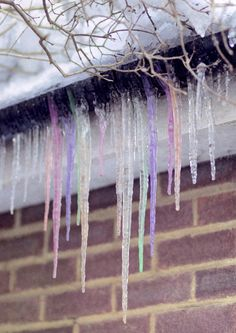 pastel icicles