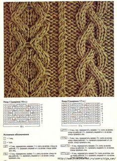 щш9 (509x700, 403Kb) Cable Knitting Patterns, Knitting Stitches, Knit Patterns, Stitch Patterns, Knit Crochet, How To Memorize Things, Knitting Patterns, Knitting And Crocheting, Crocheting