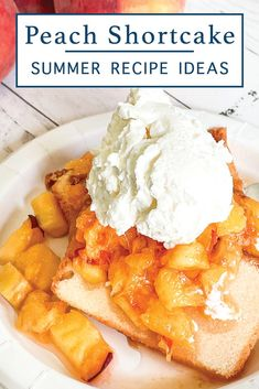 Make this delicious summer treat with the simple peach shortcake recipe from Everyday Party Magazine #PeachRecipe #ThePeachTruck #Peaches #Shortcake