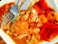 Romanian Chicken Paprikash With Cauliflower Rice & Ardei Copti Salad Chicken Paprikash, Weekly Menu Planning, Cauliflower Rice, Dairy Free, Salad, Blog, No Dairy, Salads, Blogging
