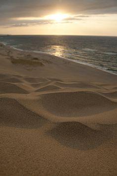 Tottori sand dunes - Sea of Japan Costa, Tottori, Sand Art, Ocean Waves, Japan Travel, Belle Photo, Beautiful Beaches, Landscape Photography, Deserts
