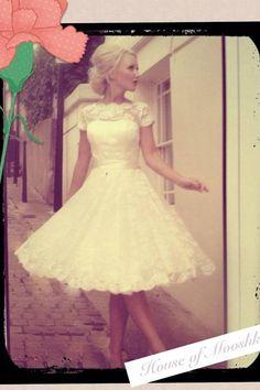 1950s style dress.