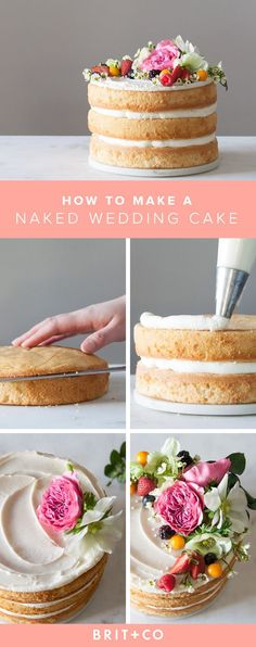 Make this delicious naked wedding cake for your special day.