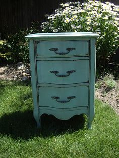 """Great furniture refinishing blog - """"A Brush of Whimsy"""""""