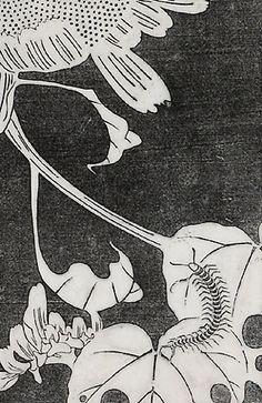 伊藤若冲『向日葵(ひまわり)』-拓版摺(額装もできます) - 京都 木版画の販売 Winds!芸艸堂(うんそうどう)/Ukiyo-e, Woodblock print - Winds! UNSODO
