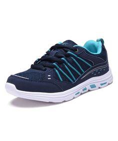 Navy & Aqua Sneaker