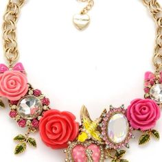 I have been wanting this necklace for forever! #betsey johnson rose garden necklace