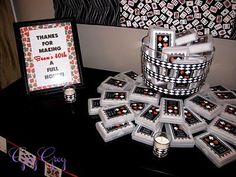 """""""Thanks for making my 40th a Full House"""" personalized deck of cards favors"""