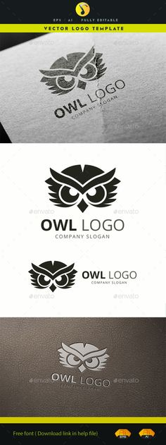 Owl Logo Template Vector EPS, AI #design #logotype Download: http://graphicriver.net/item/owl-logo/11780253?ref=ksioks