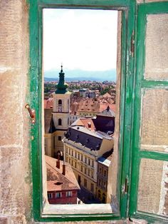 Window view, in Sibiu, Romania Oh The Places You'll Go, Places To Travel, Places To Visit, Window View, Open Window, Beautiful World, Beautiful Places, Sibiu Romania, Little Paris