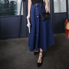 レディース フルスカート 【leather look full midi skirt with western belt】 スカート エイソス Black ひざ丈スカート ASOS DESIGN