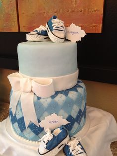 Baby shower - twin cake