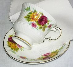Tea Cups and Saucers with the ActorTeam by Linda Yunker on Etsy
