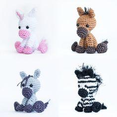 Häkelanleitungen - Häkelanleitung Pferd / Einhorn / Esel / Zebra - ein Designerstück von Haekelicious bei DaWanda