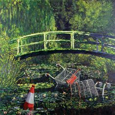 Banksy. polluted monet