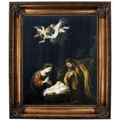 Historic Art Gallery 'The Nativity 1665' by Bartolome Esteban Murillo Framed Print on Canvas Format: